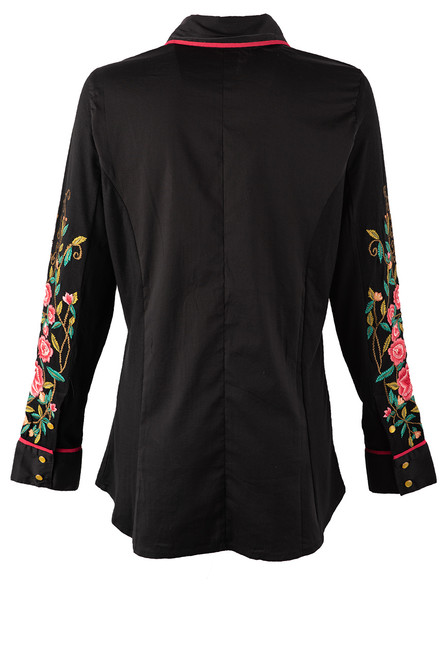 Vintage Collection Spruce Embroidered Western Shirt - Back