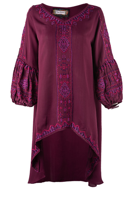 Vintage Collection Adele Puff Sleeve Tunic  - Front