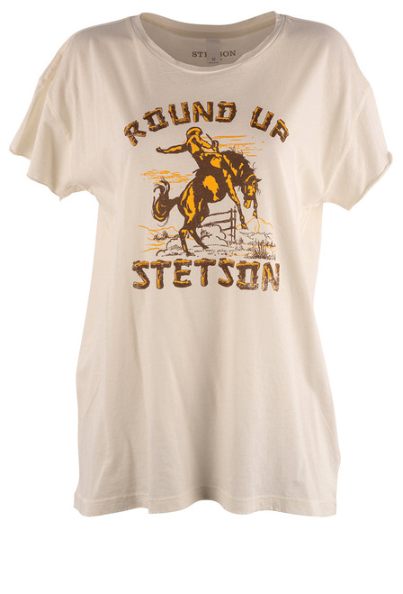 Stetson Roundup Bronco Tee - Front