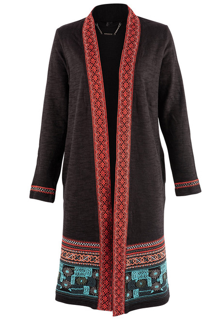 Paparazzi by Biz Cheyenne Embroidered Duster - Front