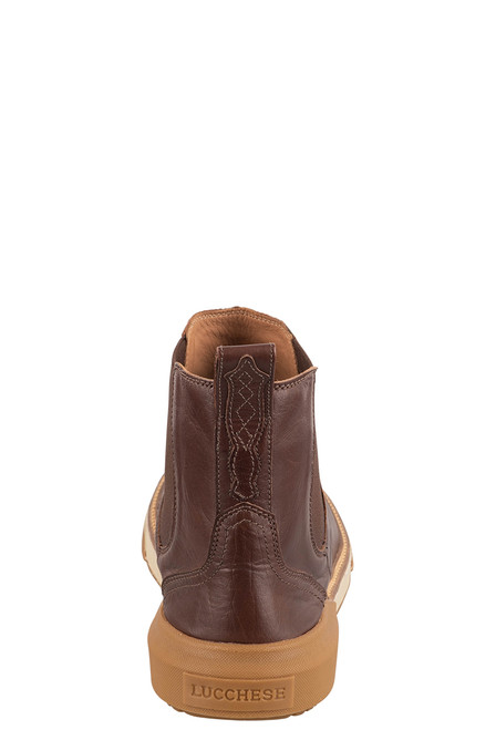 Lucchese After-Ride Chelsea Whiskey Baby Buffalo - Back