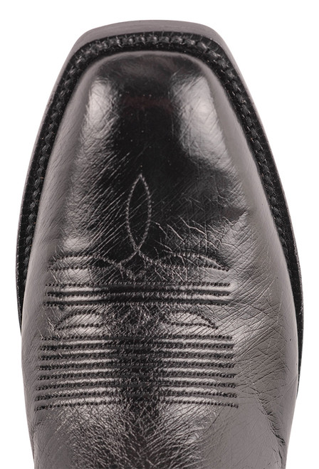 Black Jack Exclusive 12'' Black Smooth Ostrich Boot - Toe