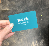 Gift Cards can now be used on shelflifeart.com