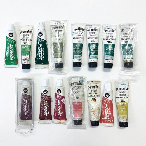 Permalba Professional Artist Oil Color Paint Pre-Owned Assortment 15 Count