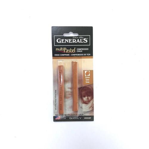 General's Multi-Pastel Compressed Chalk Sienna 2-Pack