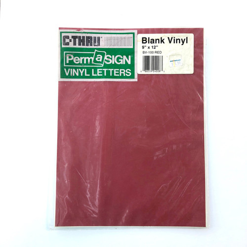 C-Thru PermaSIGN Blank Vinyl Red STICKER 9 x 12""