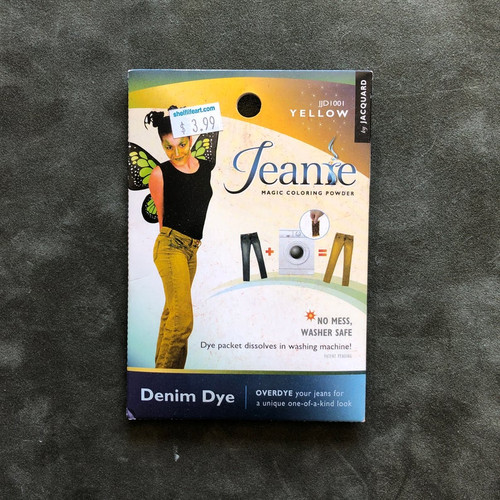 Jacquard Jeanie Denim FABRIC DYE Powder Packet JJD1001 Yellow