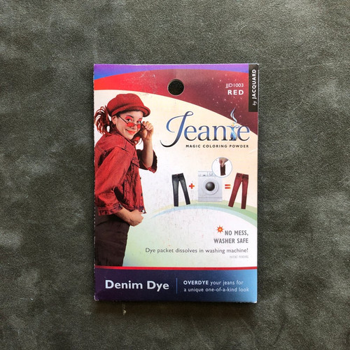 Jacquard Jeanie Denim FABRIC DYE Powder Packet JJD1003 Red