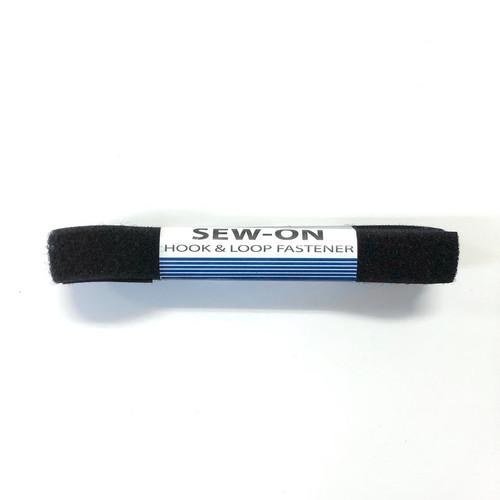 """Sew-On Hook & Loop Fastener 3/4"""" x 1 Yard Black"""