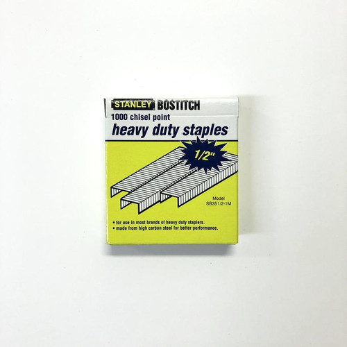 """Stanley SB35 1/2-1M Heavy Duty Chisel Point STAPLES 1/2"""" 1000 Pieces"""
