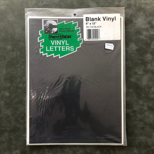 C-Thru PermaSIGN Blank Vinyl Black STICKER 9 x 12""