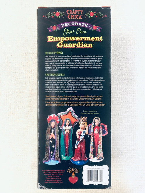 Decorate Your Own Empowerment Guardian Crafty Chica Paper Mache Queen Blank Figure