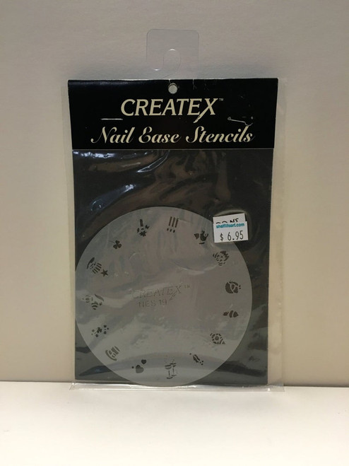 CREATEX Nail Ease Stencils NES19 Holidays Edition