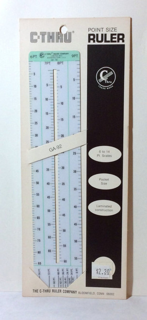 C-Thru GA-92 Point Size RULER