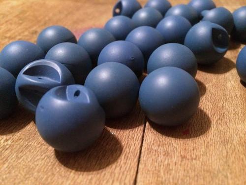 "Set of 24 Matte Blue Spherical 11/16"" BUTTONS"