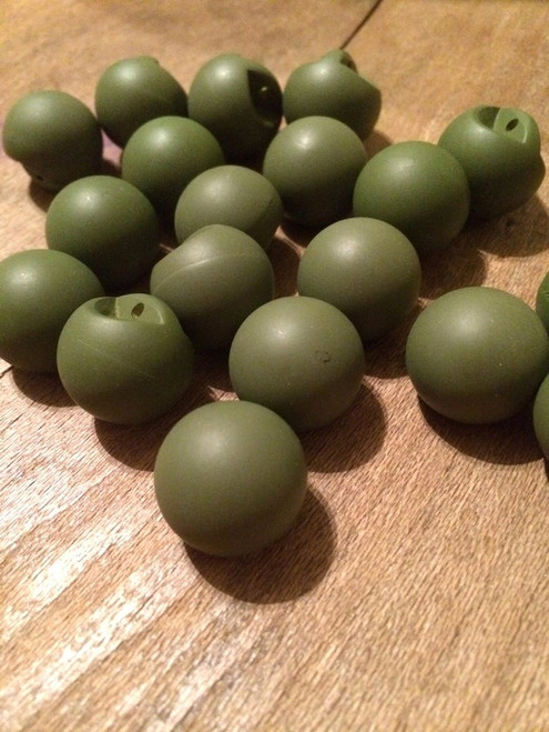 """Set of 19 Matte Army Green Spherical 11/16"""" BUTTONS"""