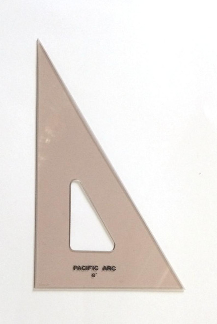 """Pacific Arc 8"""" 30 Degree Rose-Colored TRIANGLE"""
