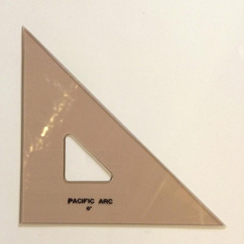 """Pacific Arc 6"""" 45 Degree Rose-Colored TRIANGLE"""