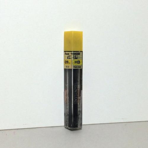 Pentel Super Hi-Polymer Black LEAD 0.9mm HB 12-Pieces