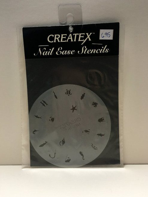 CREATEX Nail Ease Stencils NES16 UNDER the SEA