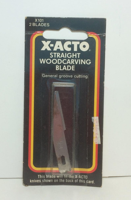 X-ACTO X101 Straight Woodcarving BLADE 2 Pack