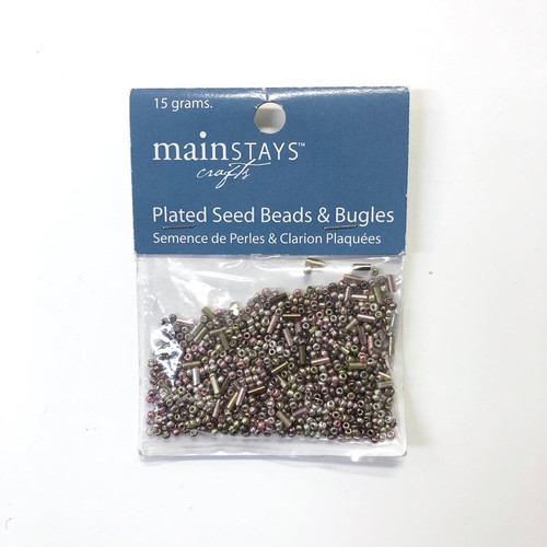 Mainstays Crafts Plated Seed Beads & Bugles 15g