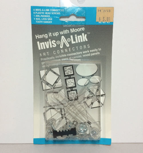 Moore No. 481 Invis-A-Link Art Connectors HANGERS 4-Pack