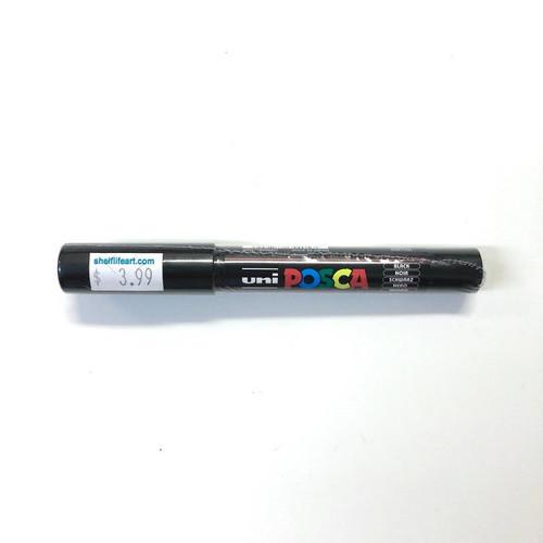 Uni Posca PC-1M Black Acrylic Water-Based Paint Pen Bullet Shaped 0.7mm