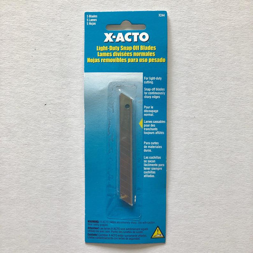 X-ACTO X244 Light-Duty Snap-Off BLADE 5 Pack