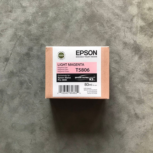 Epson Stylus Ultrachrome Pro 3800 Printer Ink Jet Cartridge No. T5806 Light Magenta