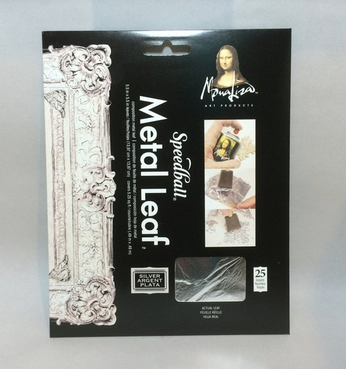 Speedball Mona Lisa Silver LEAFING 25 Sheets