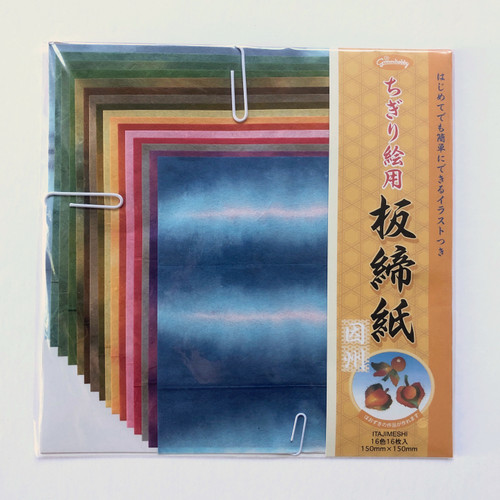 Grimmhobby Itajimeshi Rice Origami Collage Paper 16 Sheets