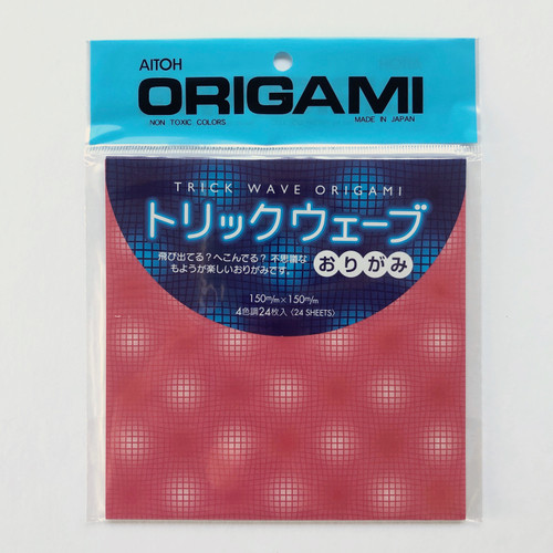 Aitoh Origami Trick Wave Origami Paper 24 Sheets