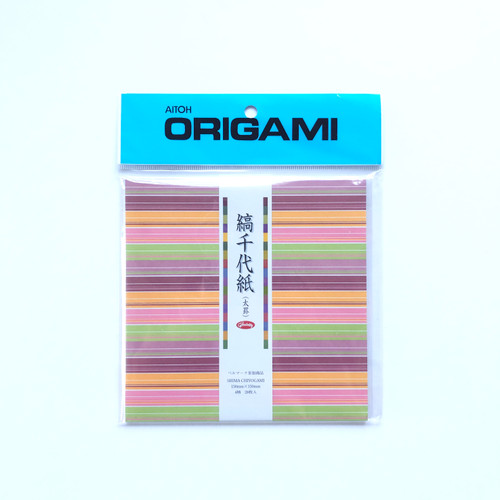 Aitoh Grimmhobby Origami Shima Chiyogami Stripes Origami Paper 28 Sheets
