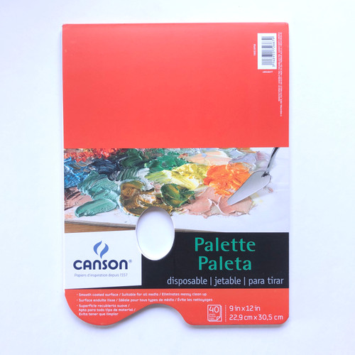 Canson Disposable Paper Palette with Thumb Hole 40 Sheets