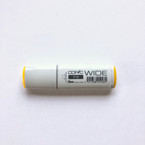 Copic Wide Marker Y15 Alcohol Ink Marker Extra Broad Cadmium Yellow 21mm
