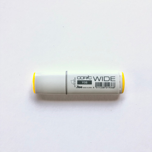 Copic Wide Marker Y08 Alcohol Ink Marker Extra Broad Acid Yellow 21mm