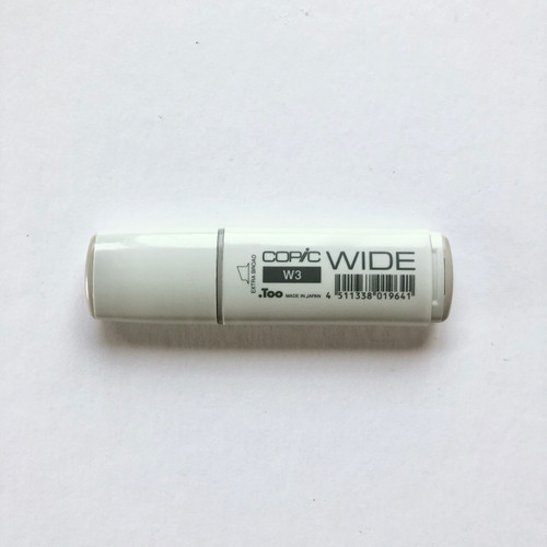 Copic Wide Marker W3 Alcohol Ink Marker Extra Broad Warm Gray 3 21mm