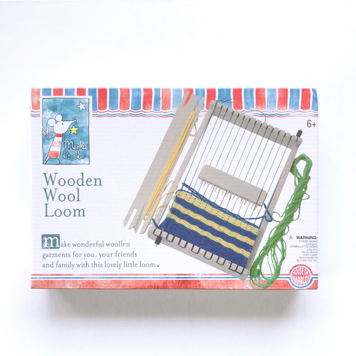 Make & Do Wooden Wool Loom Weaving Kit