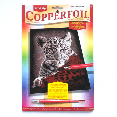 Reeves Copperfoil Engraving Art Kit Leopard Cub
