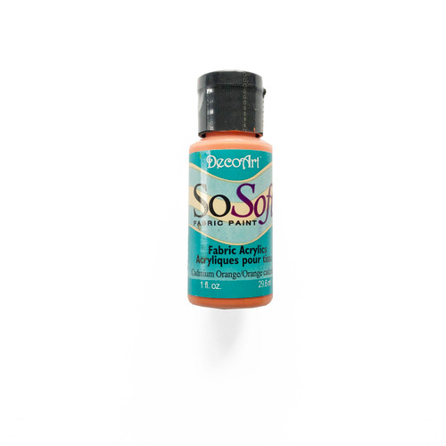 DecoArt SoSoft Fabric Acrylic Paint Cadmium Orange 1 fl oz.
