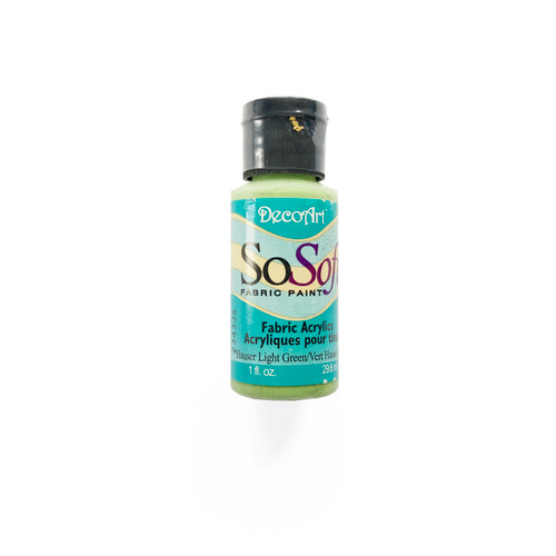 DecoArt SoSoft Fabric Acrylic Paint Hauser Light Green 1 fl oz.