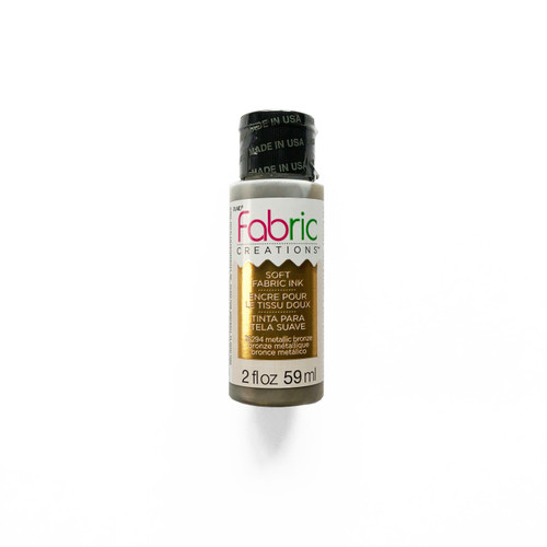 Plaid Fabric Creations Soft Fabric Ink Metallic Bronze 2 fl oz.