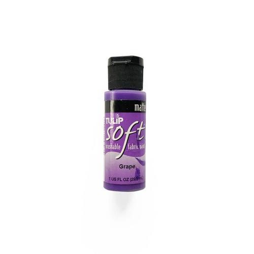 Tulip Soft Matte Brushable Fabric Paint Grape 1 fl oz.
