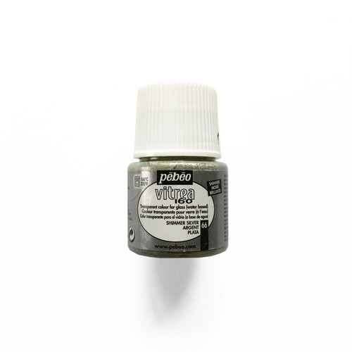 Pebeo Vitrea 160 Transparent Paint for Glass Ink Shimmer Silver