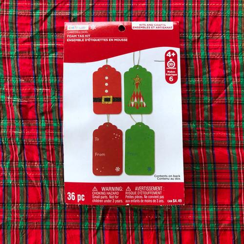 Creatology Christmas Foam Tag Kit 6 Count