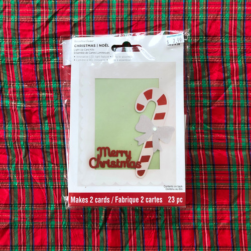 Recollections Christmas Light Up Card Kit Merry Christmas Candy Cane