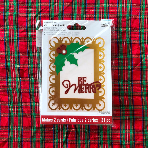 Recollections Christmas Light Up Card Kit Be Merry Holly