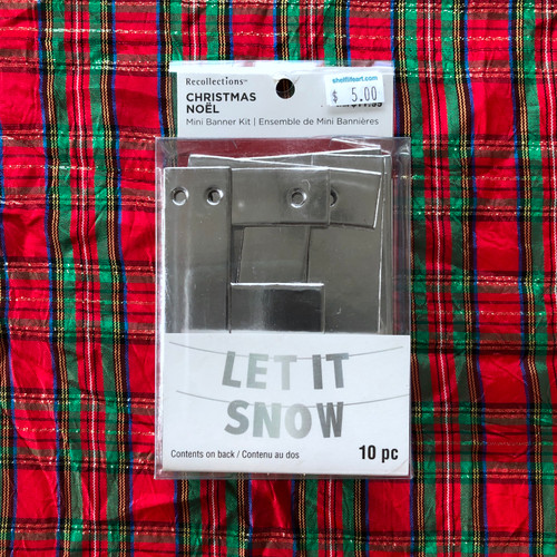 Recollections Christmas Mini Banner Kit Let It Snow Silver