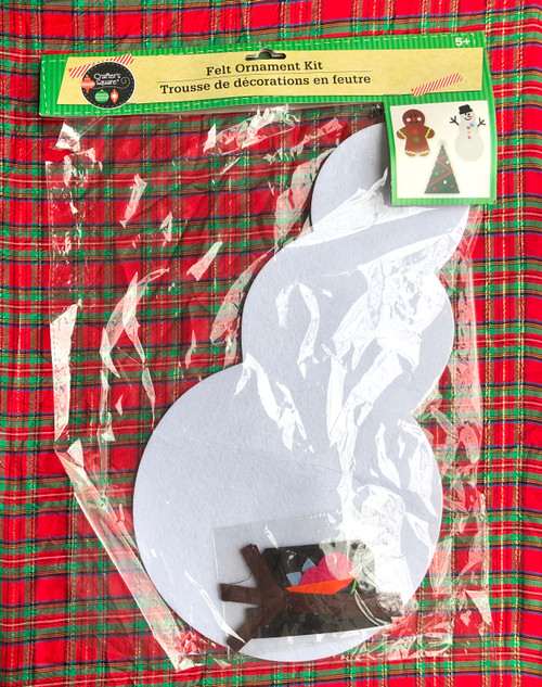 Crafters Square Large Felt Ornament Kit Snowman